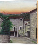 Vallecchia De Monte Calvo Wood Print