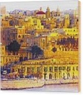 Valletta Capital Of Malta Wood Print