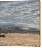 Valley Clouds Wood Print