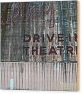 Valley Drive-in Theatre Wood Print