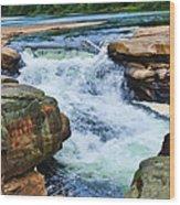 Valley Falls Wood Print