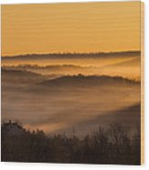 Valley Fog Wood Print