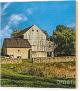 Valley Forge Barn Wood Print