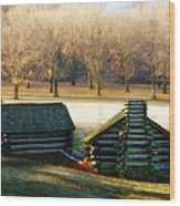 Valley Forge Cabins Wood Print