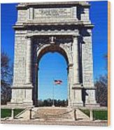 Valley Forge Landmark Wood Print by Olivier Le Queinec