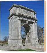 Valley Forge National Memorial Arch Wood Print