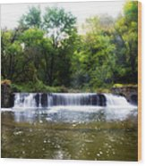 Valley Forge Pa - Valley Creek Waterfall  Wood Print