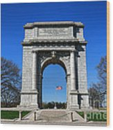 Valley Forge Park Memorial Arch Wood Print