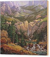 Valley King Wood Print by W  Scott Fenton