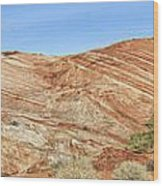 Valley Of Fire - Fire Wave Panorama Wood Print