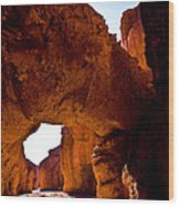 Valley Of Fire Arch Wood Print
