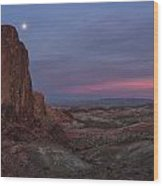 Valley Of Fire Moonrise Wood Print