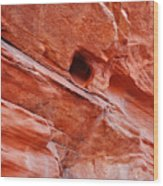 Valley Of Fire Mouse's Tank Sandstone Wall Wood Print