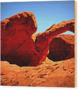 Valley Of Fire Nevada Desert Wood Print