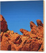 Valley Of Fire Nevada Desert Rock Lizards Wood Print