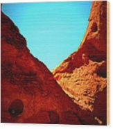 Valley Of Fire Nevada Desert Sand People Wood Print