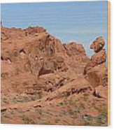 Valley Of Fire Rock Formations Wood Print