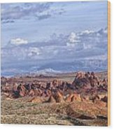 Valley Of Fire Vista Wood Print