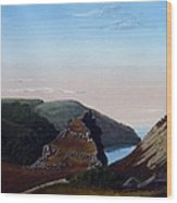 Valley Of Rocks Devon Wood Print