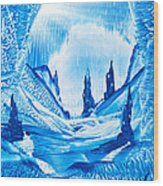 Valley Of The Castles Painting Wood Print