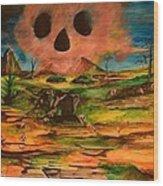 Valley Of The Skulls Wood Print