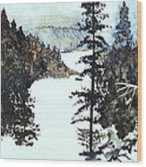 Valley Snow Wood Print