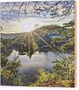 Valley Sunrise Wood Print