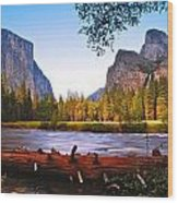 Valley View - Yosemite National Park Wood Print