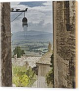 Valley View - Assisi Wood Print