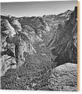 Valley View At Glacier Point Wood Print