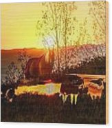 Valley View Horses Wood Print