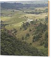 Valley View Of  Atherton Tableland Wood Print