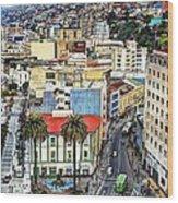 Valparaiso A Color Palette City Wood Print