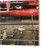Valves Lines And Tanks Wood Print by Dale Stillman
