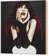 Vamp Girl Wood Print