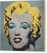 Vampire Marilyn Wood Print