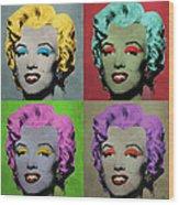 Vampire Marilyn Set Of 4 Wood Print