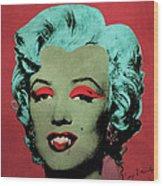 Vampire Marilyn Variant 1 Wood Print