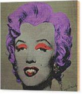 Vampire Marilyn Variant 3 Wood Print