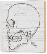 Vampire Skull Wood Print