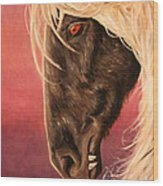 Vampire's Steed Wood Print