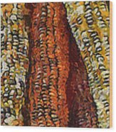 Van Gogh Corn Wood Print