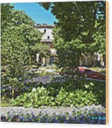 Van Gogh - Courtyard In Arles Wood Print