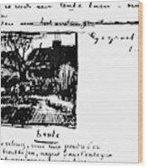 Van Gogh Letter Wood Print