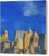 Van Gogh Meets Manhattan Wood Print
