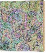 Van Gogh Style Abstract I Wood Print