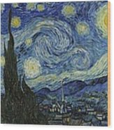 Van Gogh The Starry Night Wood Print