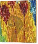 Van Gogh's Garden Of Eden Wood Print