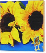 Van Gogh's Sunflower Miniature Art Wood Print