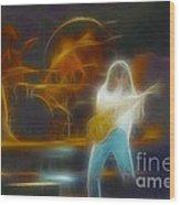 Van Halen-91-ge7a-fractal Wood Print